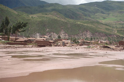 Image of flooding Peru from previous deployment, March 2010