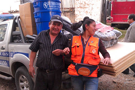 Peru's Civil Defence Department's Community Service Officer Ruth Mary Huertas Gutierrez, April 2012.