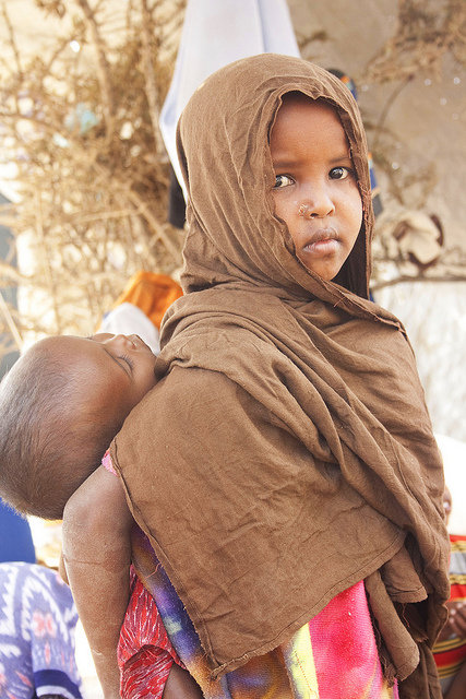 Conflict and drought has displaced hundreds of thousands in East Africa like these children in Kenya's Dadaab Refugee camp
