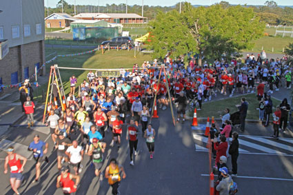 The start of the Pine Rivers Charity Fun Run