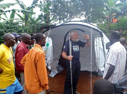 SRT Dave Webber (UK) in Uganda following mudslides last month