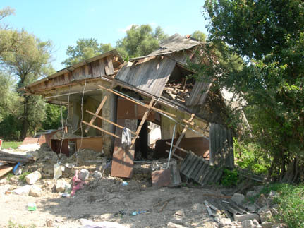 Flash floods caused extensive damage to homes in the Krasnodar region of SW Russia