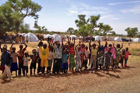 Thankful children in Niger/Photograph by David Hatcher.
