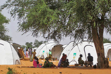 ShelterBox worked with Women and Health Alliance (WAHA) International to set up this camp in Kollo District for families made homeless by recent flooding, Niger, September 2012.