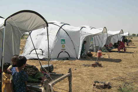 ShelterBox tents set up in Punjab province, Pakistan, October 2012.