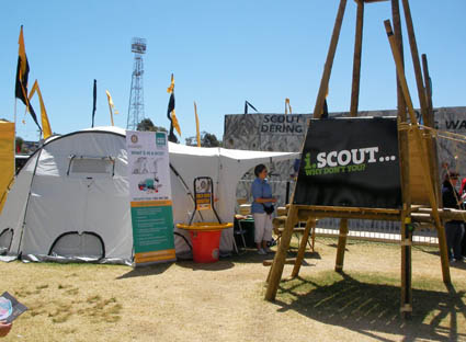 ShelterBox featured at the Scouts stand at the Perth Royal Show