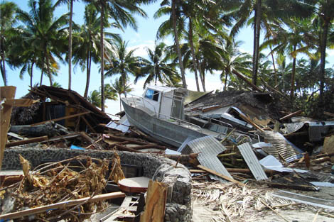 ShelterBox responded to a tsunami that hit Samoa in 2009.