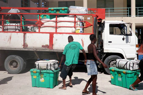 Around 18,000 homes were flooded, damaged or destroyed in Haiti following Hurricane Sandy, according to the United Nations.