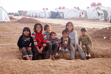 Syrian refugee children at Domiz camp, Iraq Kurdistan, November 2012.