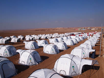 ShelterBox is working with The Barzani Foundation at the Domiz camp, Iraq Kurdistan
