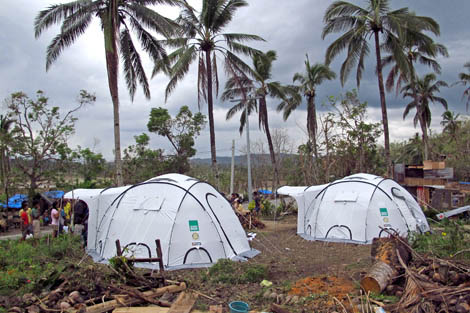 ShelterBox has been in the Philippines working with various partners to bring emergency shelter to families made homeless by recent Typhoon Bopha, known locally as Pablo, which hit early December.