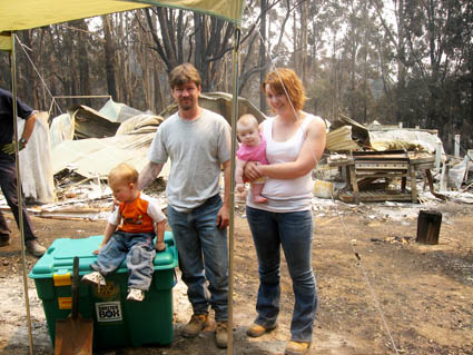 Victims of the deadly Victorian bush fires of 2009 received aid from ShelterBox