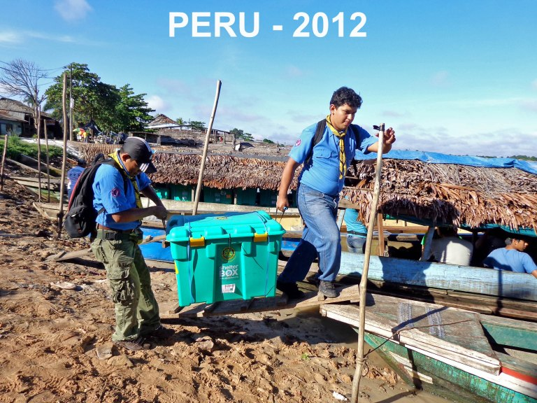 Scouts help after severe flooding and landslides in Peru in 2012