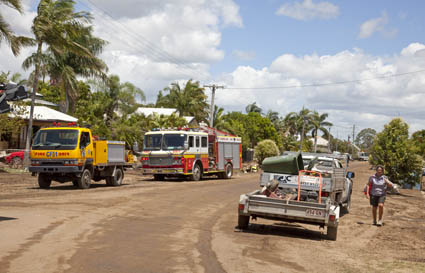 The clean up continues in Bundaberg's exclusion zone. Many houses will be uninhabitable for months.