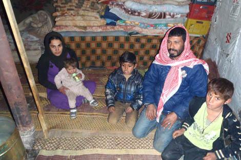 The Mostor family, Bekaa Valley, Lebanon, January 2013.