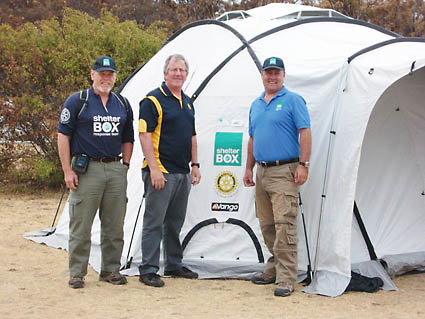 ShelterBox recently helped families who had lost their homes in the bush fires that swept through SE Tasmania