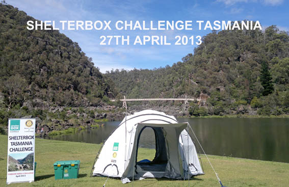 Launceston's Cataract Gorge provides a stunning backdrop for the launch of ShelterBox Challenge Tasmania