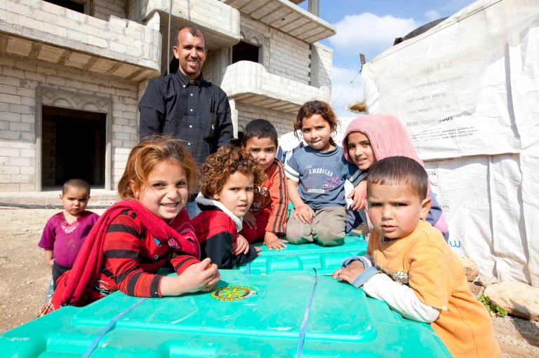 Syrian refugees near Halba, Northern Lebanon ©Mike Greenslade/ShelterBox