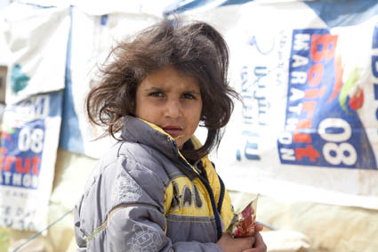 Young Syrian refugee, West Bekaa Valley Lebanon ©MikeGreenslade/ShelterBox
