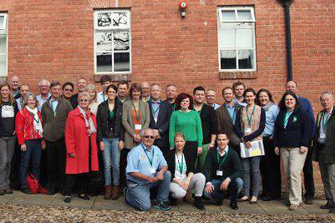 Delegates from some of the fifteen affiliates countries in attendance at the 2013 ShelterBox international affiliates conference.