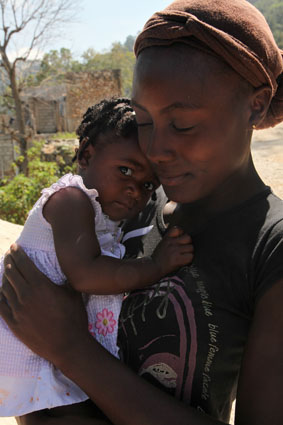 Mother and child, Port au Prince, Haiti
