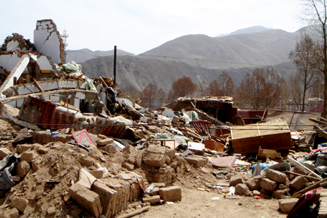 ShelterBox responded to the earthquake that hit China's Qinghai Province in April 2010, sending 100 ShelterBoxes.