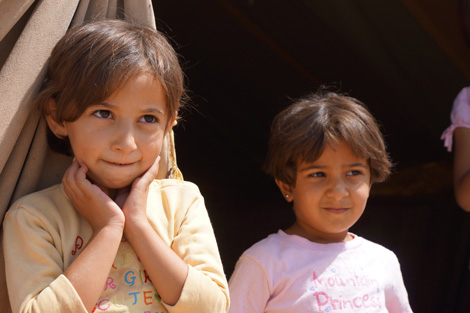 Syrian refugee children at Domiz refugee camp, Duhok Province, Iraqi Kurdistan, August 2013.