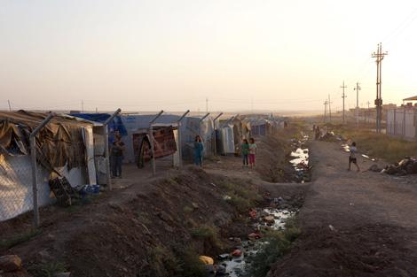 Syrian refugee children playing at Domiz camp, Iraqi Kurdistan, August 2013.
