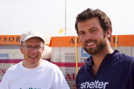 Michael Johns (left) with SRT member Hunter Tanous (US) in Iraqi Kurdistan, September 2013.