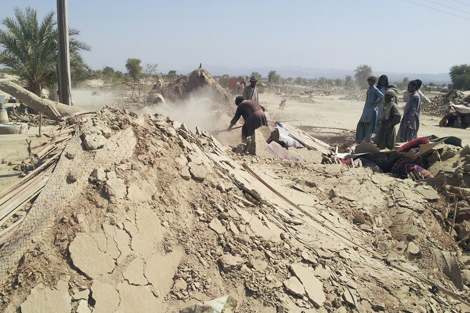 The quake has caused severe damage to homes and infrastructure in Baluchistan state, Pakistan, September 2013. Image courtesy of NRSP.