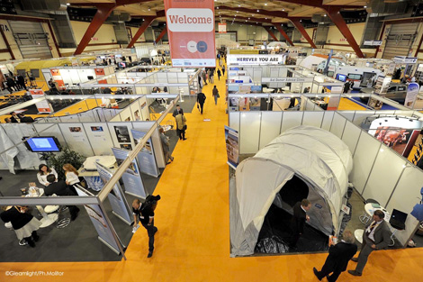 The exhibition at AidEx 2012.
