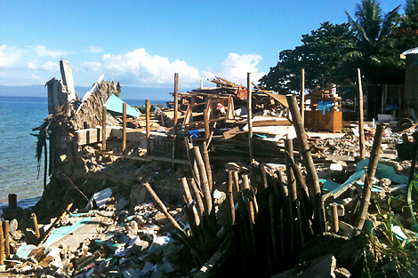Photo taken during the ShelterBox deployment in response to an earthquake that hit Visaya island, February 2012, Philippines.