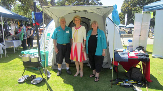 Foreign Minister The Hon Julie Bishop with ShelterBox District Reps. Michael Reeves & Jackie Bullock