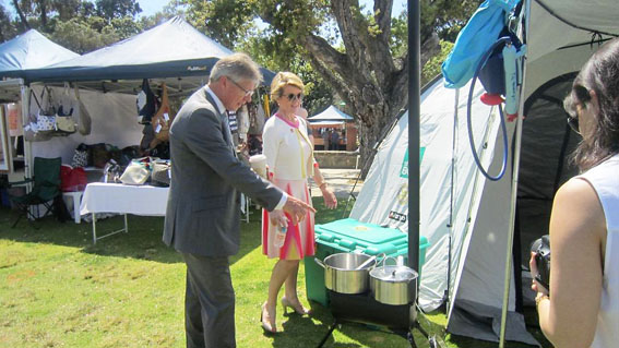 Hon Bill Marmion BE MBA MLA with Foreign Minister, Hon Julie Bishop