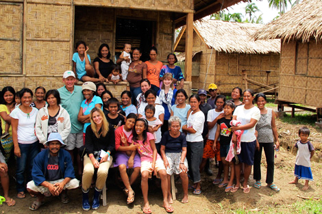 ShelterBox evaluation team with some beneficiaries in San Miguel, Compostela Valley, Philippines, August 2013.
