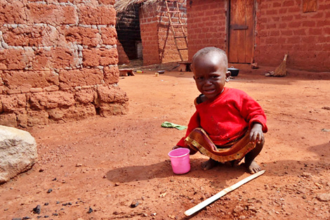 Half of the 1.6 million population in dire need of humanitarian assistance in CAR are children, Haute-Kotto, CAR, December 2013. Photo courtesy of Laura Jepson.