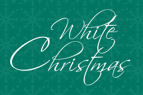 White Christmas graphic