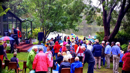 The weather didn't damped the spirits at the Golden Valley, Philippines fundraiser on Sunday.