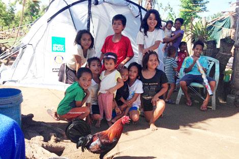 Children on Kinatarcan Island, Philippines, January 2014.