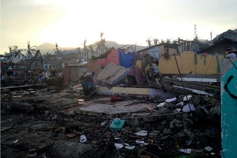 Tacloban still in devastation after Typhoon Haiyan, Leyte, Philippines, January 2014.