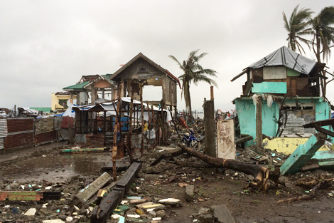 A sense of the damage that Typhoon Haiyan left behind in Tacloban, Cebu, Philippines, January 2014.