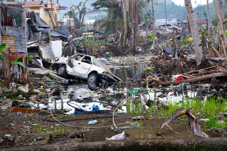 Much of Tacloban is still in the clear up stages, Leyte, Philippines, January 2014