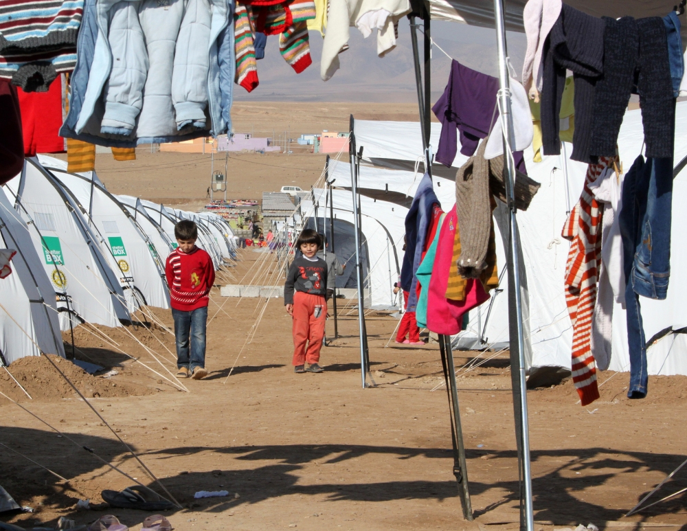 Syrian refugee children in the Domiz camp, Iraqi Kurdistan