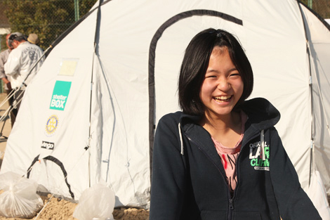 JAPAN. MARCH 2011. ShelterBox focused its relief efforts in the northeast of Japan bringing emergency shelter and other essential aid to nearly 1,700 families. (ShelterBox)