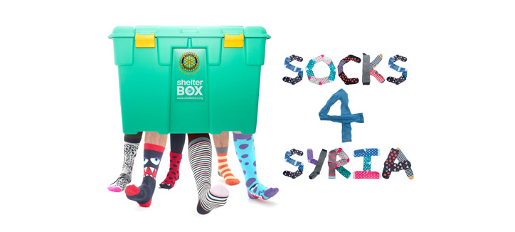 Our 'Odd Sox' campaign has been remodelled as 'Socks 4 Syria