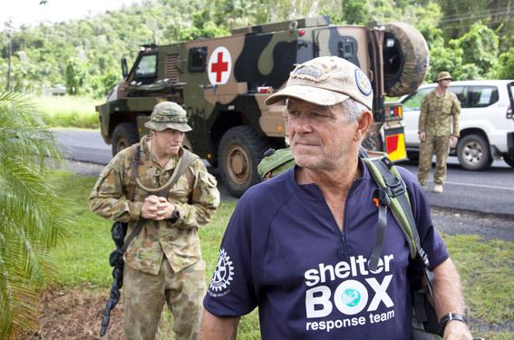 Australian SRT member, Peter Pearce takes part in Exercise Sea Dawn
