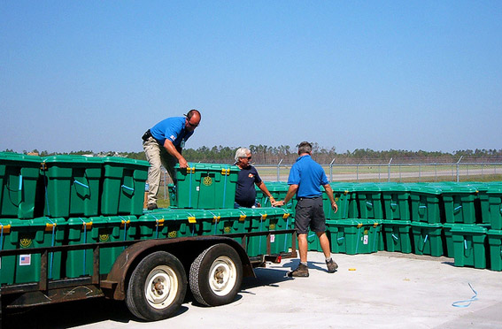 ShelterBox was one of the first agencies on the ground when Katrina hit
