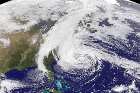 Hurrican Sandy as photographed by NASA, November 2012 - NASA's Earth Observatory