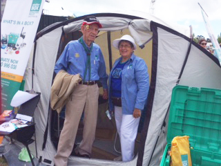 Long-standing ShelterBox Ambassador Gordon Cargeeg with new recruit, Jan Teasdale