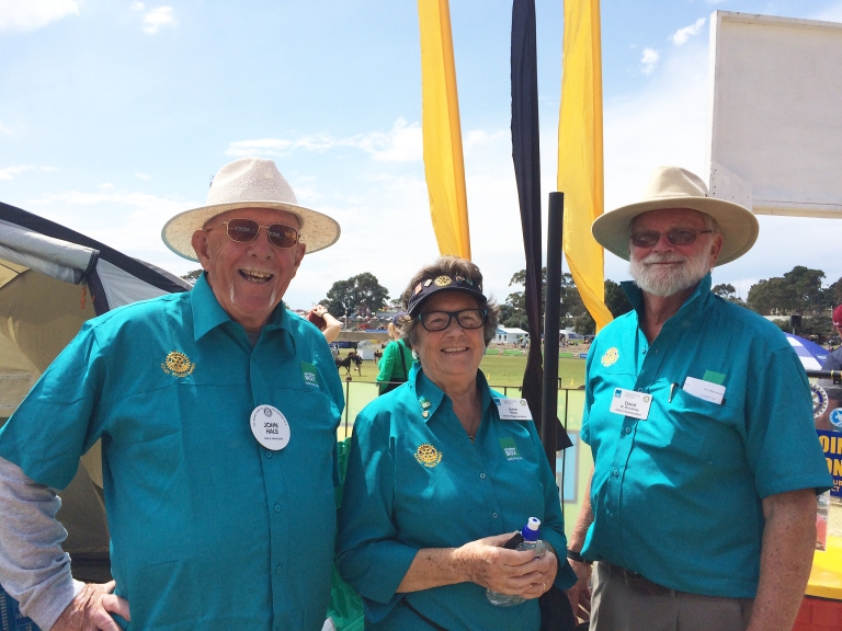 L-R ShelterBox Australia Ambassadors, John Hale, June Wade and David Brockway are all Presidents elect for their respective Rotary Clubs